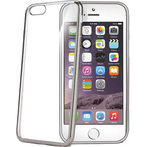 Husa Protectie Spate Celly Laser Argintiu APPLE iPhone 6, iPhone 6S