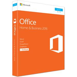 Microsoft Office Home and Business 2016 ENG, 32-bit/x64, 1 PC, Medialess - FPP