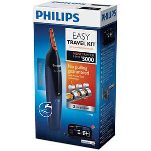 Set aparat de tuns + Kit călătorie Philips NT5180/15 Negru / Albastru
