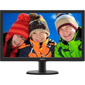 Monitor LED Philips 243V5QSBA/00 23.6 inch 8ms Black