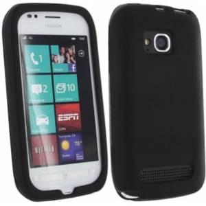 Husa Protectie Spate Cellularline SILICONCASEL710 Negru pentru NOKIA Lumia 710