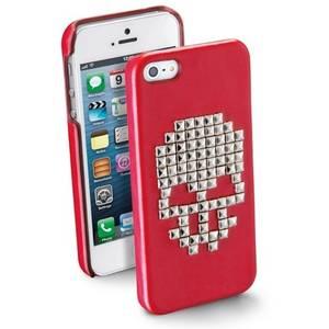 Husa Protectie Spate Cellularline SKULLCIPHONE5R Skull Rosu pentru APPLE iPhone 5s, iPhone SE