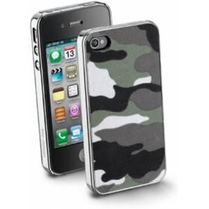 Husa Protectie Spate Cellularline ARMYCIPHONE4S2 Verde pentru APPLE iPhone 4s