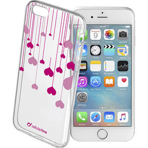 Husa Protectie Spate Cellularline STYCHEARTIPH647 Heart Case Transparent pentru APPLE iPhone 6, iPhone 6S