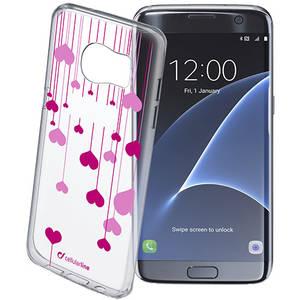 Husa Protectie Spate Cellularline STYCHEARTGALS7E Heart Transparent pentru Samsung Galaxy S7 Edge