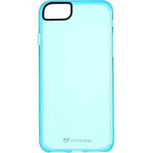 Husa Protectie Spate Cellularline CLEARCOLIPH747B Clear Color Albastru pentru Apple iPhone 7