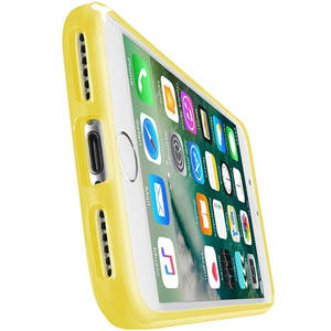 Husa Protectie Spate Cellularline CLEARCOLIPH747Y Clear Color Galben pentru Apple iPhone 7