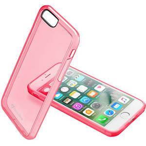 Husa Protectie Spate Cellularline CLEARCOLIPH747P Clear Color Roz pentru Apple iPhone 7