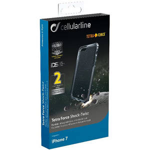 Husa Protectie Spate Cellularline TETRACASEIPH747K Tetra Negru pentru Apple iPhone 7