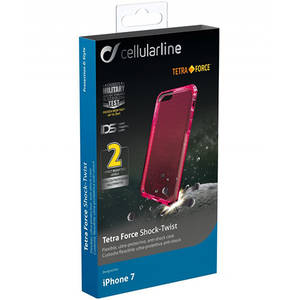 Husa Protectie Spate Cellularline TETRACASEIPH747P Tetra Roz pentru Apple iPhone 7