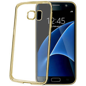 Husa Protectie Spate Celly BCLGS7GD Laser Auriu pentru Samsung Galaxy S7