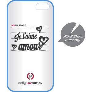 Husa Protectie Spate Celly CLOVE180BL CLOVE HIDDEN MESSAGE Albastru pentru APPLE iPhone 4s