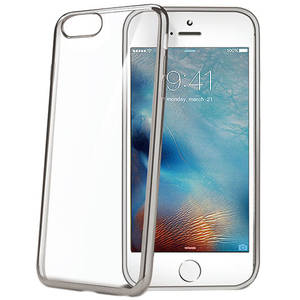 Husa Protectie Spate Celly LASER800SV Bumper Argintiu pentru Apple iPhone 7
