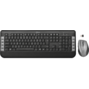 Kit tastatura si mouse Trust Tecla wireless Negru/Gri