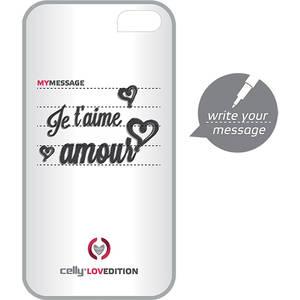 Husa Protectie Spate Celly CLOVE180WH Clove Hidden Message Alb pentru APPLE iPhone 4s