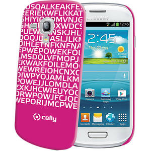 Husa Protectie Spate Celly CLOVE280FS Clove Hidden Message Roz pentru SAMSUNG Galaxy S3 Mini