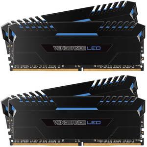 Memorie Corsair Vengeance Blue LED 64GB DDR4 3000MHz CL15 Quad Channel Kit