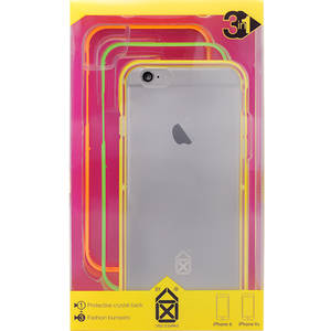 Husa Protectie Spate Case Scenario CS-IP6S-N-BUGI Bumper 3 in 1 Neon Girl Multicolor pentru APPLE iPhone 6S