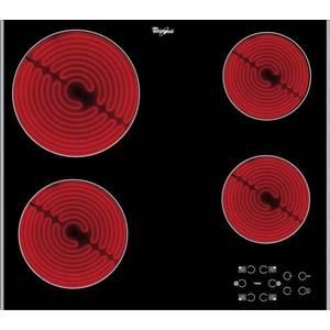 Plita Whirlpool AKT 8090/NE vitroceramica 4 zone incorporabila Neagra