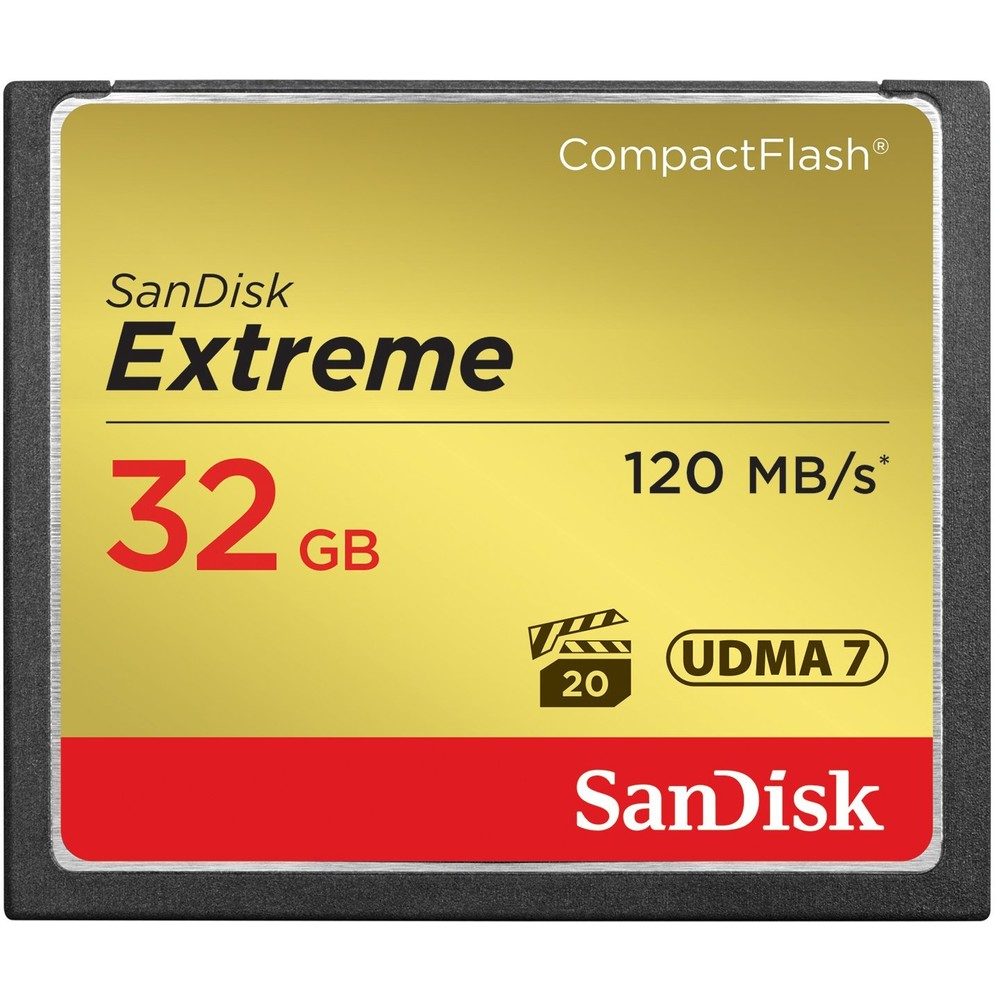 Card Compact Flash Extreme 120mbs 32gb