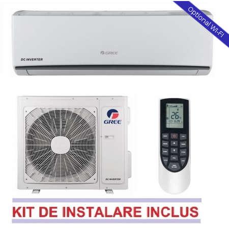 Aparat de aer conditionat Gree LOMO GWH09QB-K3DNA1C + Kit Instalare Inverter 9000 BTU A++/A+ Alb
