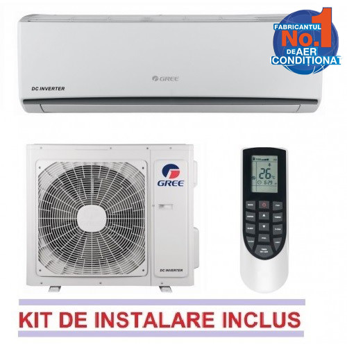 Aparat Aer Conditionat Lomo Gwh12qb-k3dna1d 12000 Btu Inverter A++/a+ Alb Wi-fi Optional + Kit Instalare