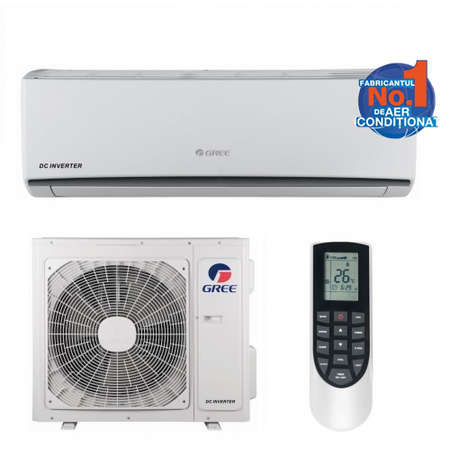 Aparat de aer conditionat Gree LOMO GWH24QE-K3DNA1G Inverter 24000BTU WI-FI Optional A++/A+ Alb