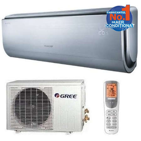 Aparat de aer conditionat Gree U-Crown GWH12UB-K3DNA4F Inverter 12000BTU A++/A++ Argintiu