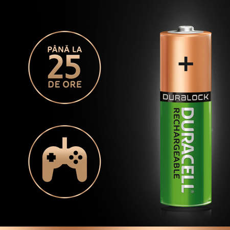Acumulator Duracell AAK2 StayCharged 2400mAh Verde