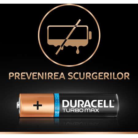 Baterie Duracell Turbo Max AA LR06 3+1 gratis Negru