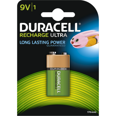 Acumulatori Duracell 9V 170mAh Verde