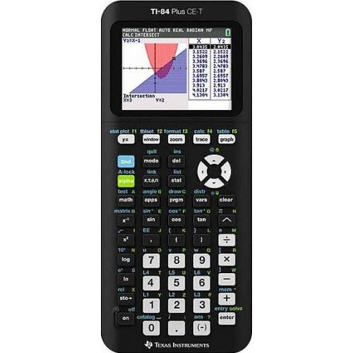 Calculator de birou TI-84 Plus CE-T grafic 84PLCE/TBL/4E6 Negru thumbnail