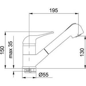 Baterie bucatarie Franke 0738126 Granito Satin Jet dublu