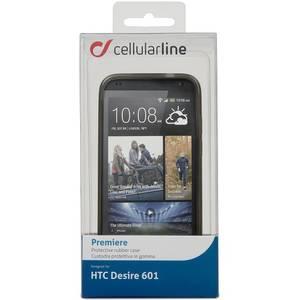Husa Protectie Spate Cellularline PREMIERECDESIRE601 Premiere Transparent pentru HTC Desire 601