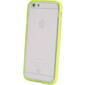 Husa Protectie Spate Celly BCFIPH6YL Bumper cu CAPAC SPATE FLUO Galben pentru APPLE iPhone 6, iPhone 6S