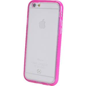 Husa Protectie Spate Celly BCFIPH6PK Bumper cu CAPAC SPATE FLUO Roz pentru APPLE iPhone 6, iPhone 6S