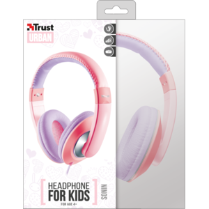 Casti Trust Sonin Kids Pink / Purple