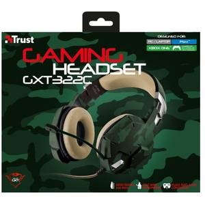 Casti gaming Trust GXT 322C Green Camouflage