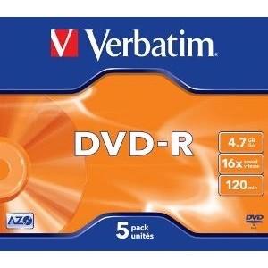 Mediu optic DVD-R 4.7GB 16x jewel case argintiu mat 5 bucati thumbnail