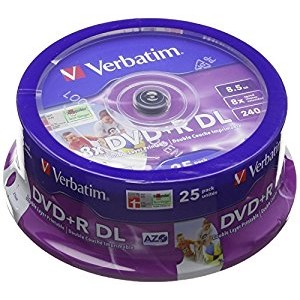 Mediu optic BLANK DVD+R DL 8X 8.5GB 25 bucati thumbnail