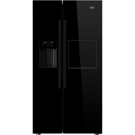 Frigider Side-by-Side GN162420P 544 Litri No Frost - Dual Cooling A+ Negru thumbnail