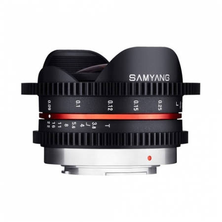 Obiectiv Samyang 7.5mm T3.8 Fisheye VDSLR pentru Micro Four Thirds