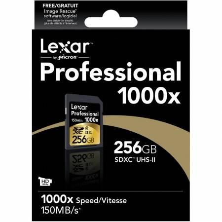 Card Lexar Professional SDXC 256GB 1000X  UHS2, 150MB/s