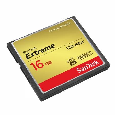 Card Sandisk CF 16GB Extreme 120MB/s UDMA 7 SDCFXS-016G-x46