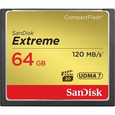 Card Sandisk CF 64GB Extreme 120MB/s UDMA 7, 800x