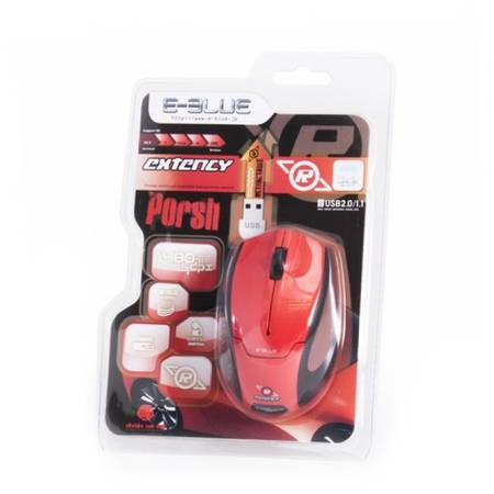 Mouse E-Blue Extency Red