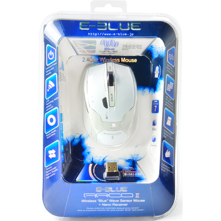 Mouse E-Blue Arco 2 White