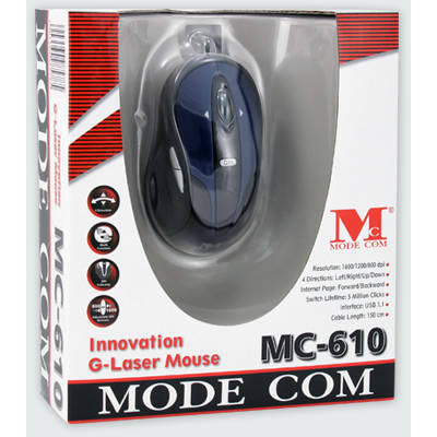 Mouse Modecom MC-610 Innovation G-Laser Blue / Black
