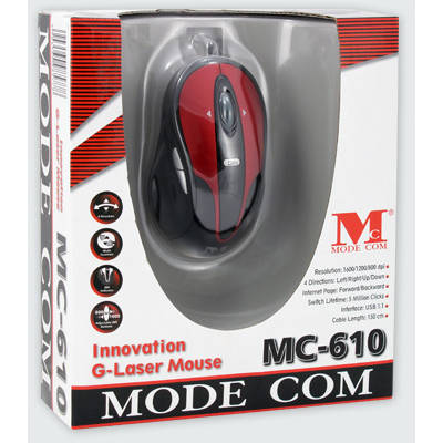Mouse Modecom MC-610 Innovation G-Laser Red / Black
