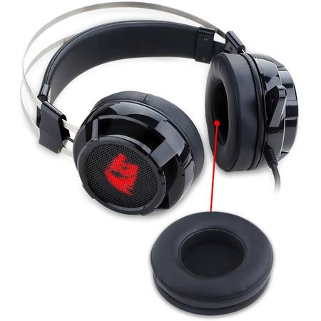 Casti gaming Redragon Siren 2 Black